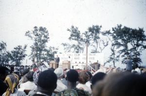 Billy Graham preaching