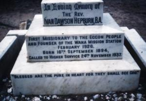 Wana Hepburns grave